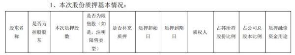 泉阳泉股东赵志华质押1800万股 用于个人财务需求