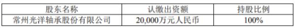 光洋股份对外投资设立全资子公司 注册资本为2亿元