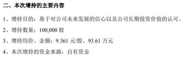 捷顺科技股东赵勇增持10万股 耗资约93.61万元