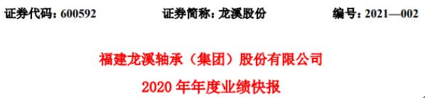 龙溪股份2020年度净利1.49亿增长1.5% 行业市场需求回暖
