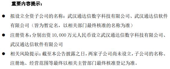 财富趋势以自有资金2亿元在武汉设立2家全资子公司