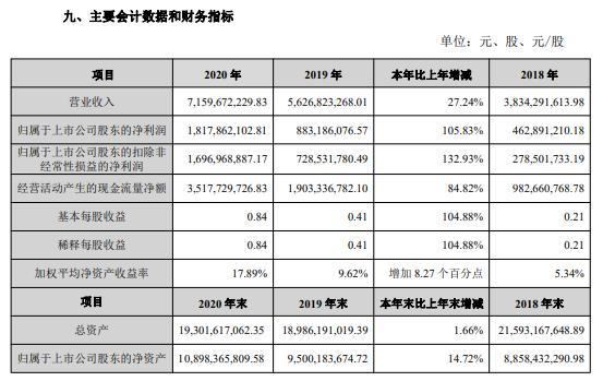 宝新能源2020年净利18.18亿 新能源电力实现快速增长 董事长宁远喜薪酬252万