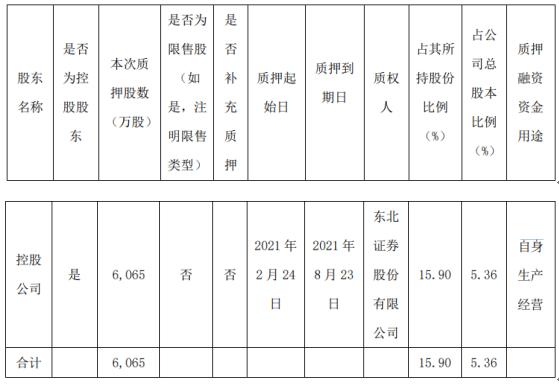 瑞贝卡控股股东控股公司质押6065万股 用于自身生产经营