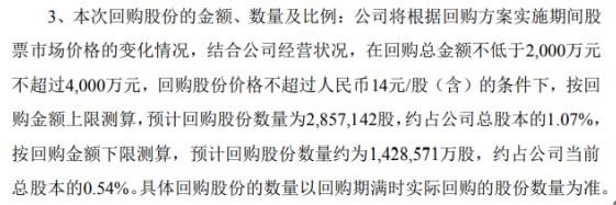 集泰股份将花不超4000万元回购公司股份 用于股权激励