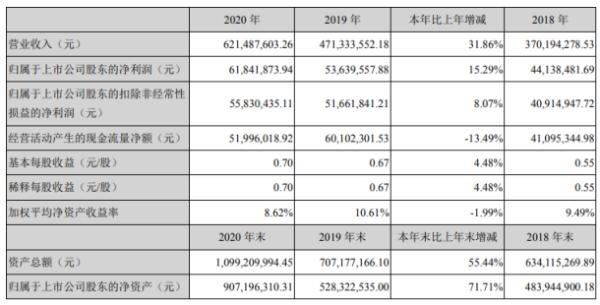 神宇股份2020年净利6184.19万增长15.29%改性塑料产品营收上升 董事长任凤娟薪酬60万