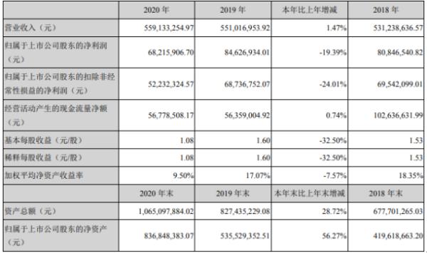 龙磁科技2020年净利下滑19.39% 董事长熊永宏薪酬168.87万