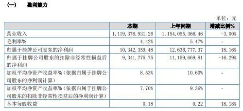 马龙国华2020年净利润下降18.16% 销售额下降