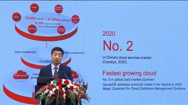 168%!华为云2020年增速全球最快