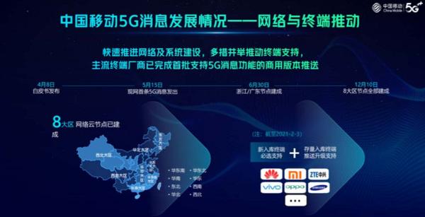 中国移动喻炜:5G消息将在今年全面走向商用
