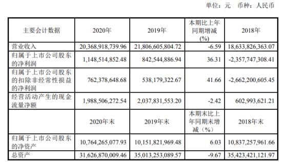 人福医药2020年净利增长36.31% 董事长李杰薪酬102.43万