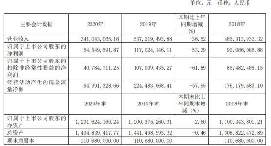 九华旅游2020年净利下滑53.39% 旅游需求疲软