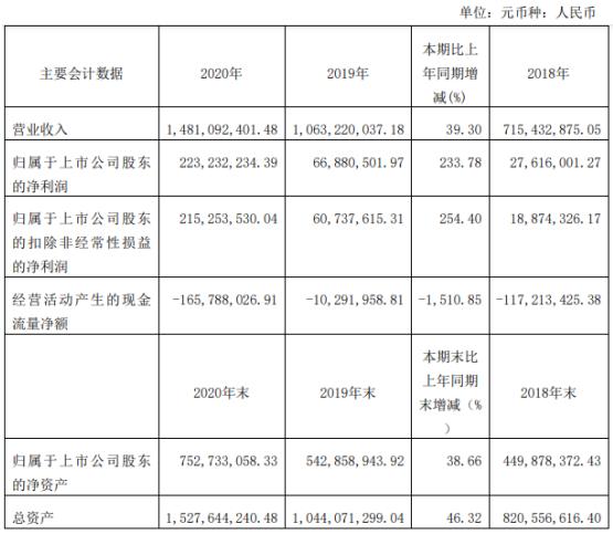 海优新材2020年净利增长233.78% 董事长李晓昱薪酬55.46万