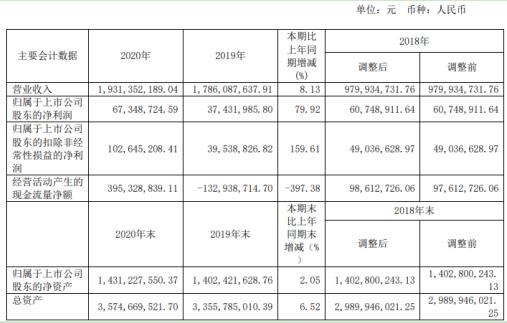 振江股份2020年净利增长79.92% 董事长胡震薪酬35.62万