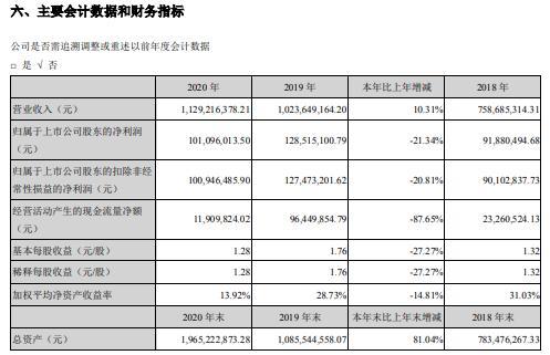 中岩大地2020年净利减少21.34% 董事长王立建薪酬35.1万