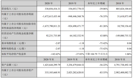 新文化2020年亏损16.73亿 董事长杨震华薪酬62.58万
