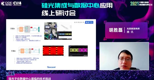 腾讯胡胜磊:贯穿短中长线技术需求 硅光终将成为行业主导