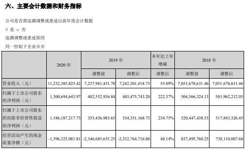 南山控股2020年净利增长222.37% 副董事长兼总经理王世云薪酬563.1万