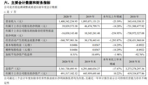 美丽生态2020年净利减少14.28% 董事长陈飞霖薪酬88.57万