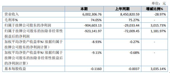 泽华伟业2020年亏损90.46万 受疫情影响收入下降