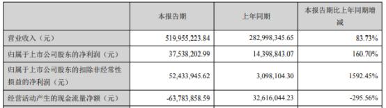 鼎龙股份2021年第一季度净利增长160.7% 通用打印耗材业务收入增长