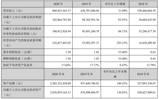 瑞丰新材2020年净利增长85.91% 董事长郭春萱薪酬150.73万