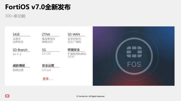 Fortinet FortiOS操作系统重大更新,支持SASE和零信任网络访问