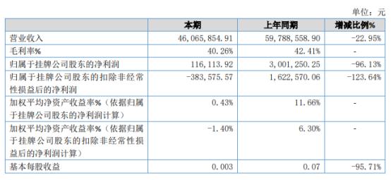 2020年网波股份净利润同比下降96.13% 政府补贴减少