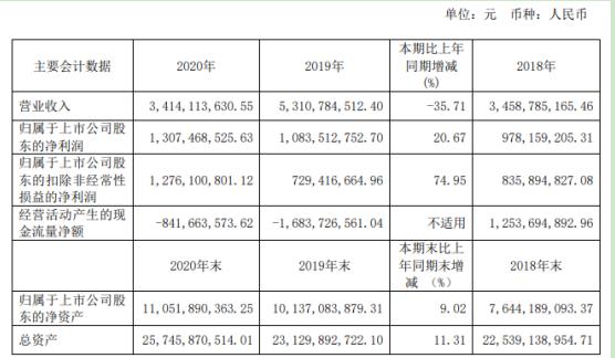 中新集团2020年净利同比增长21% 董事长赵志松薪酬463万