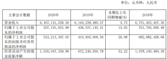 滨化股份2020年净利增长15.65% 副董事长王树华薪酬44.27万