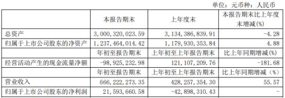 鑫科材料2021年第一季度净利2159.37万扭亏为盈 本期销量增加