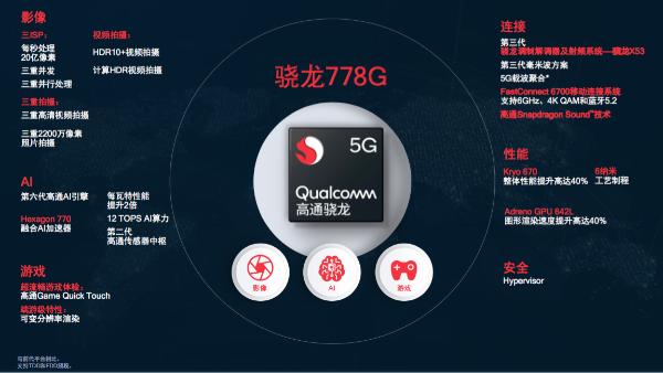 骁龙778G 5G移动平台正式发布:采用6nm工艺制程 计算性能提升40%