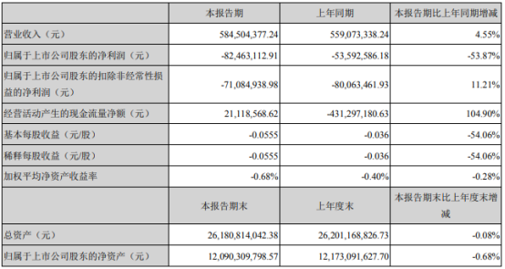 东旭蓝天2021年第一季度亏损8246.31万 研发费用增长
