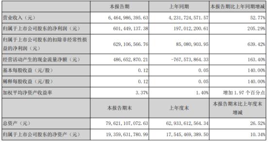 东方盛虹2021年第一季度净利增长205.29% 销售收入增加