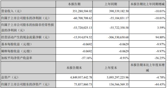 宜华健康2021年第一季度亏损6070.87万 融资成本增加