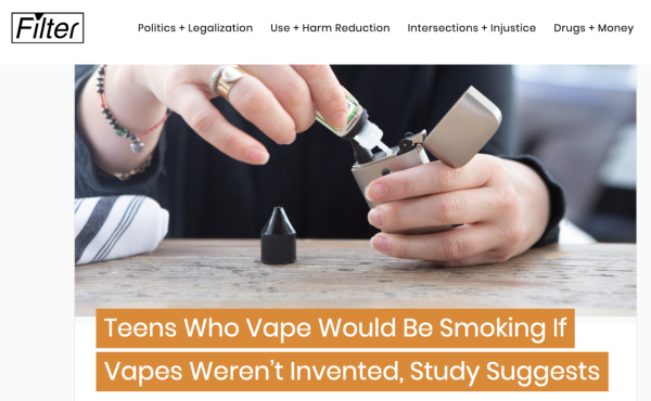 旧金山青少年吸烟率翻倍飙升!耶鲁大学:电子烟口味禁令让烟民用回卷烟