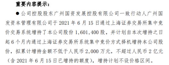 广州发展控股股东一致行动人广州国发增持160.14万股