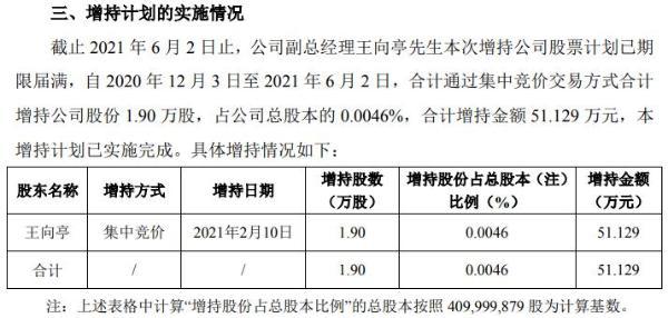 洁美科技副总经理王向亭合计增持1.9万股 耗资51.129万
