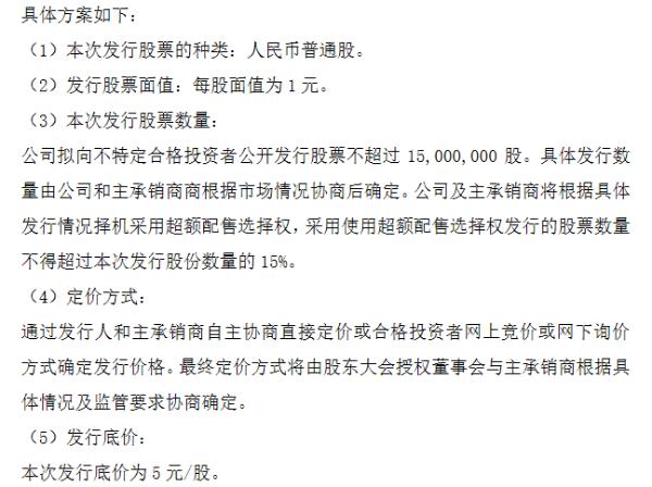 亿能电力精选层拟发行方案:发行不超1500万股 发行底价5元/股