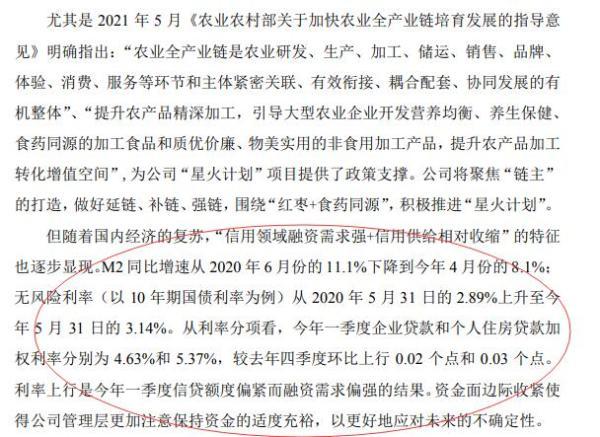 卖红枣的好想你回购大幅缩水:给出的理由竟然是房贷利率上升和M2下滑