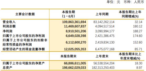紫金矿业2021年上半年净利66.49亿增长174.6% 矿产铜及矿产锌毛利增加