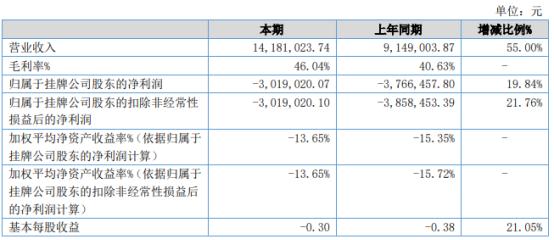 北京伟力2021年上半年亏损301.9万亏损减少 毛利率增长