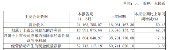 国盾量子2021年上半年亏损1899.19万亏损增加 政府补助较上年同期减少