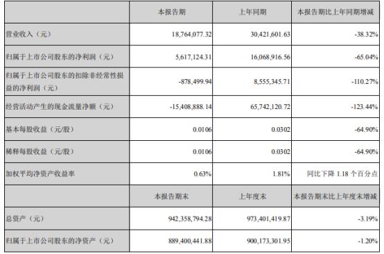 民生控股2021年上半年净利561.71万下滑65.04% 子公司民生典当收入减少
