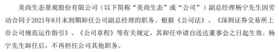 *ST美尚副总经理杨宁辞职 2020年薪酬为72.12万