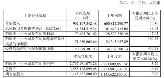 丰林集团2021年上半年净利7046.58万增长147.05% 产销量大幅增长