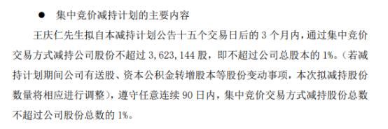 永悦科技股东王庆仁拟减持不超362.31万股公司股份 一季度公司净利320.26万