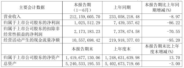 新力金融2021年半年度净利102.55万元 同比净利减少86.22%