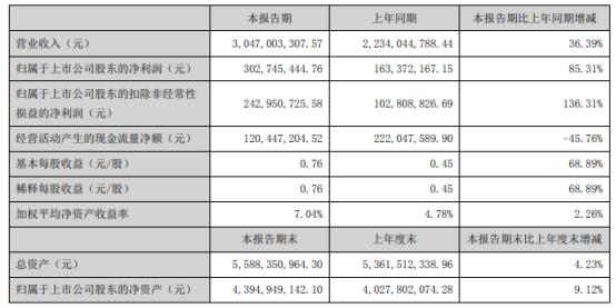 永兴材料2021年上半年净利3.03亿增长85.31% 锂盐产品销量增加