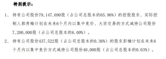 路畅科技2名股东拟合计减持不超724万股公司股份 一季度公司净利135.95万