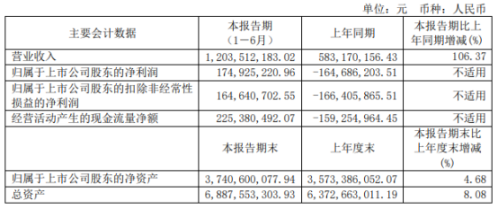 沧州大化2021年上半年净利1.75亿同比扭亏为盈 财务费用下滑